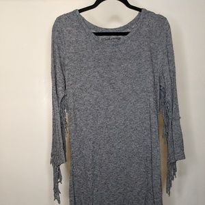 Gray Zadig & Voltaire Fringe Dress - size Small
